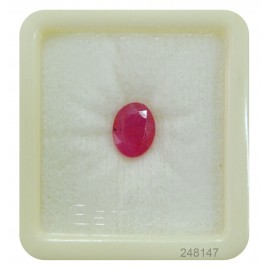 Lab Certified Ruby StoneFine 4+ 2.4ct