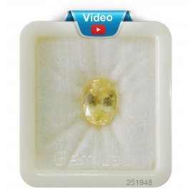 Yellow Sapphire Sup-Pre 8+ 5.1ct