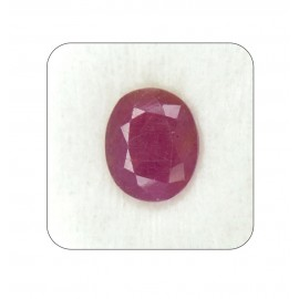 Certified Ruby Gemstone Fine 7+ 4.25ct