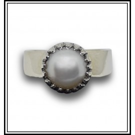 South Sea Pearl Silver Ring