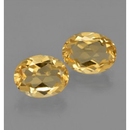 Citrine 3.31 ct (total) Yellow Golden Oval Facet