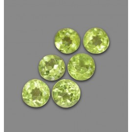 Green Peridot 3 Carat Round from China Natural and Untreated Gemstones