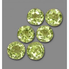 2.37CT Peridot Lively Green Round Facet